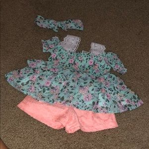 Girls outfit with matching headband